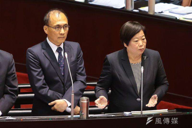 20170217-勞動部長林美珠、行政院長林全17日於立院備詢。(顏麟宇攝)