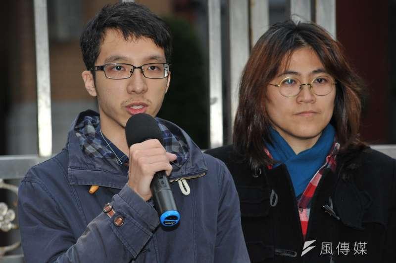 20170217-同志團體記者會,台灣同志家庭權益促進會副理事長蔡尚文。(甘岱民攝)