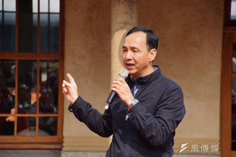 新北市長朱立倫表示,中央的審查過程必須要有一致的標準和公平。(資料照,盧逸峰攝)