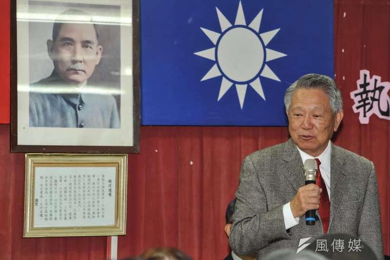 國民黨主席參選人詹啟賢前幾天喊出「沒有國民黨就沒有中華民國!」的言論,作者認為,中華民國不是國民黨獨佔的,請國民黨不要再綁架中華民國。(資料照,甘岱民攝)