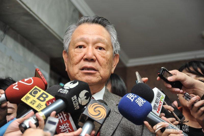 國民黨副主席詹啟賢日前出席大安區黨部新春團拜。(甘岱民攝)