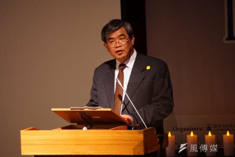20170219-教育部次長蔡清華出席國際大屠殺紀念日活動。(盧逸峰攝)