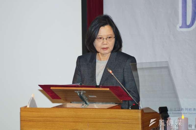 根據台灣民意基金會調查,總統蔡英文聲望回升。(資料照片,盧逸峰攝)