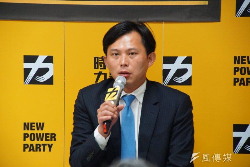 20170221-時代力量中央黨部媒體茶敘,黨主席黃國昌發言。(盧逸峰攝)