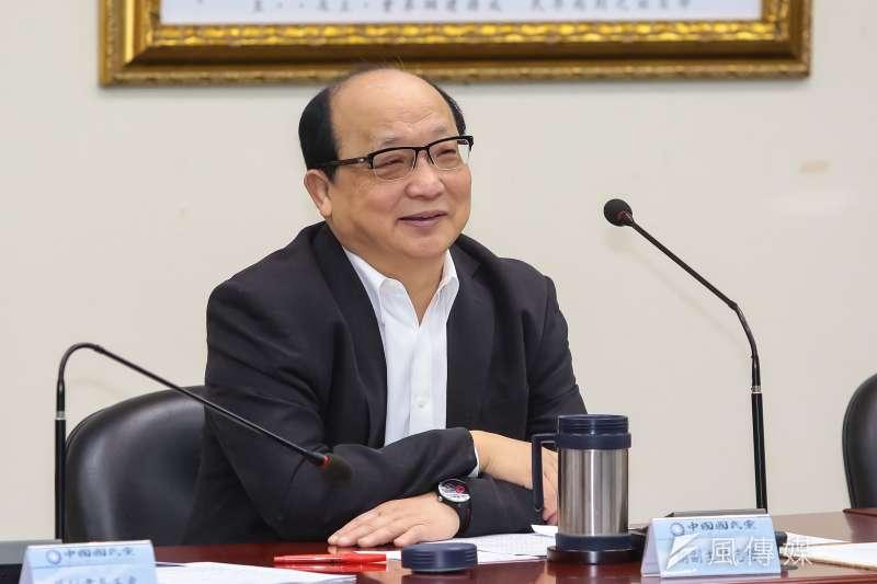 20170222-國民黨副主席胡志強22日出席國民黨中常會。(顏麟宇攝)