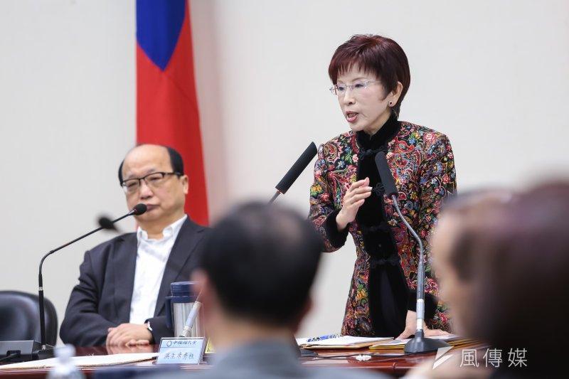 20170222-國民黨主席洪秀柱22日出席主持國民黨中常會。(顏麟宇攝)
