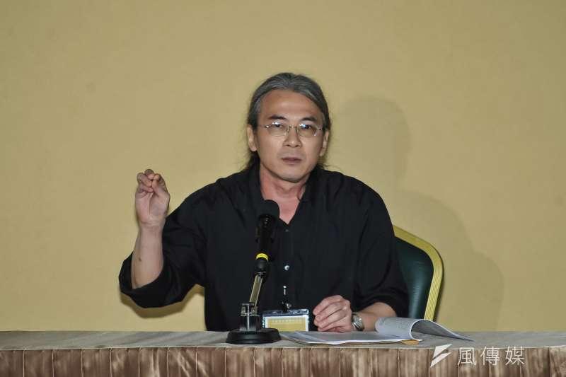20170224-黨產會聽證會,輔大歷史系教授陳君愷。(甘岱民攝)