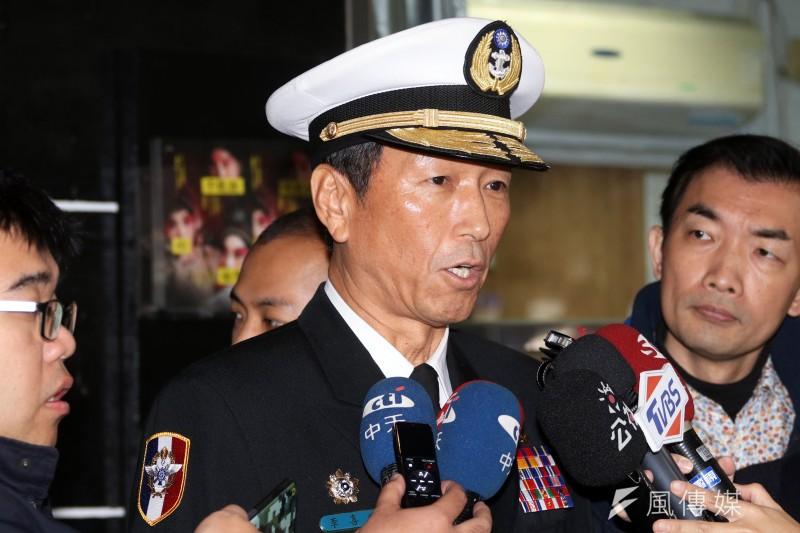國防部副部長李喜明上將上午針對清泉崗毒品案回應。(蘇仲泓攝)