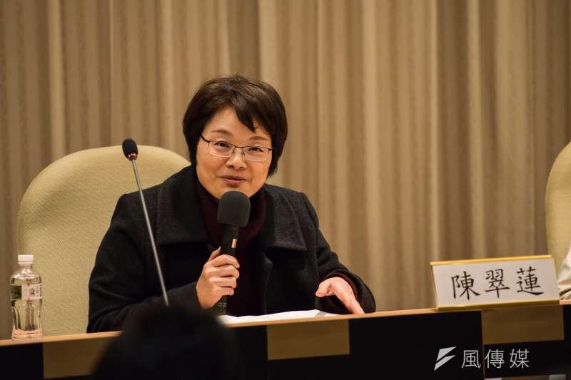 台大歷史系教授陳翠蓮(圖)否認其為陳弱水妹妹,並譴責《中國時報》、《聯合報》幫助散播謠言。(資料照,甘岱民攝)
