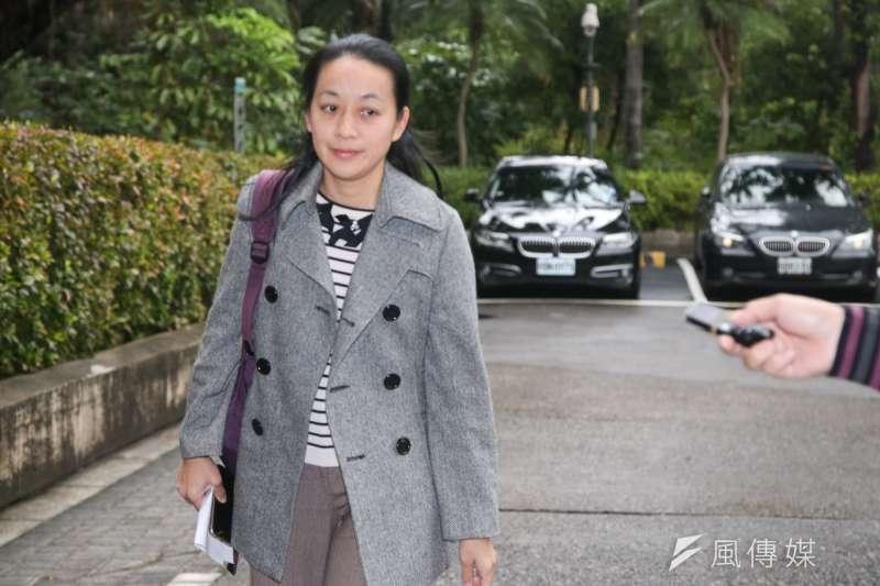 小燈泡的母親王婉諭出席NCC有關媒體報導涉及偵查不公開相關事宜。(資料照片,陳明仁攝)