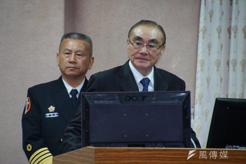 國防部長馮世寬3月2日在立法院備詢。(盧逸峰攝)