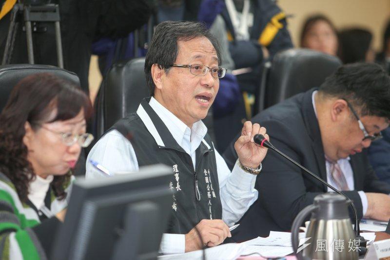 考試院舉行公務人員年金改革公聽會,出席代表李來希發言。(陳明仁攝)