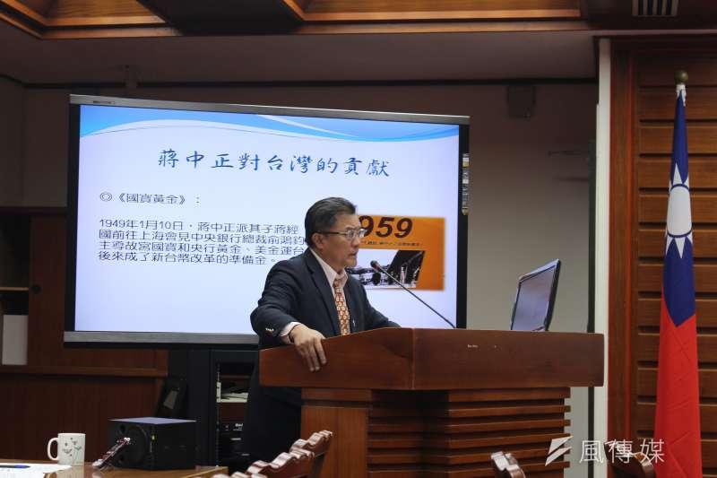 20170309-國民黨立委孔文吉9日在質詢時表示,希望文化部管好電視電影等業務即可,不要參與轉型正義等議題。(方炳超攝)