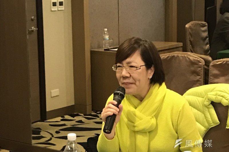 李安妮在記者會時說,「她為台灣人寫歷史,我們來替她留全集!」張炎憲是我最尊敬的同事之一。(杜承翰攝)