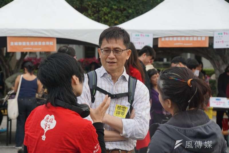 20170311-反核大遊行,環保署副署長詹順貴到場關心。(盧逸峰攝)