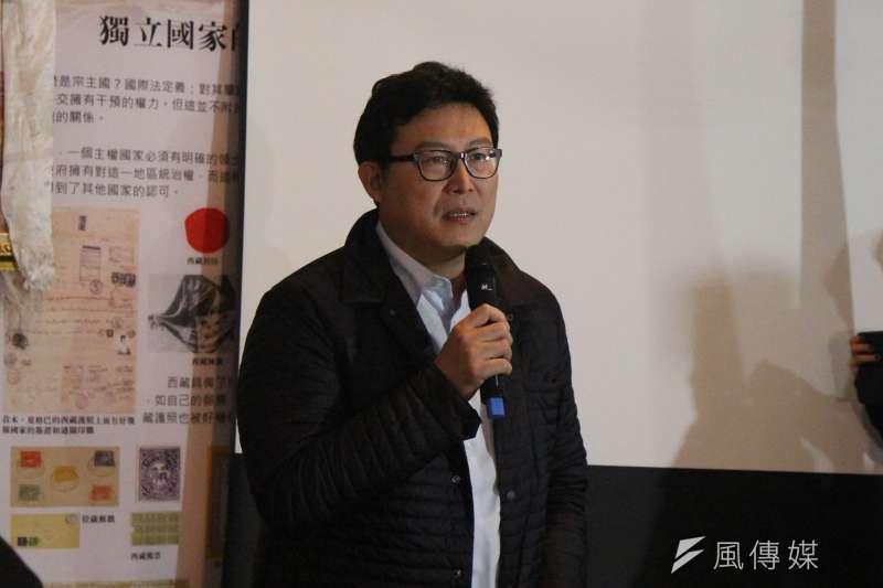 20170310-民進黨立委姚文智表示,台灣70年前面臨跟西藏58年前一樣的處境,都是受到外來威權殘暴的政權的壓迫,台灣二二八的大屠殺和西藏310大屠殺,我們都曾經面對那樣的歷史。(方炳超攝)