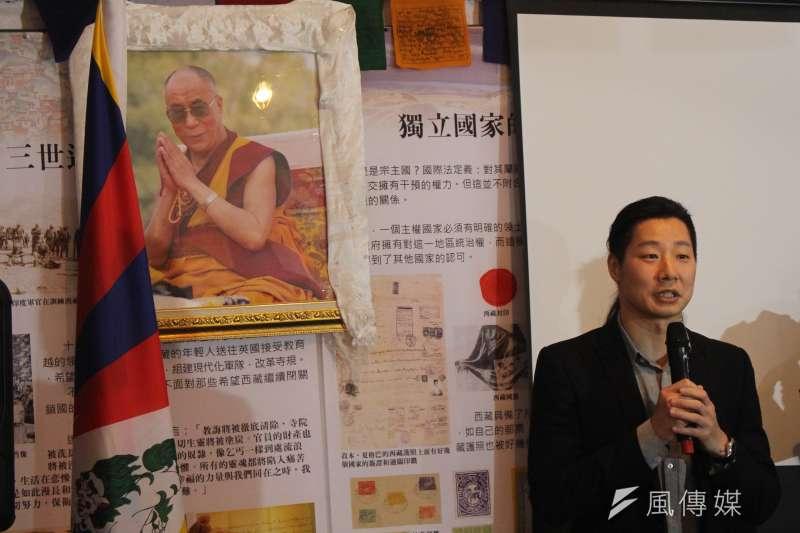 20170310-台灣國會西藏連線會長、時代力量立委林昶佐表示,會努力把台灣推向成為對國際人權、對西藏自由運動都非常友善的國家。(方炳超攝)
