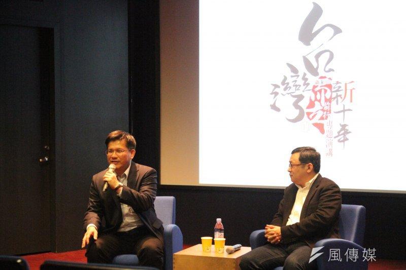2017-03-12-台中市長林佳龍12日出席新新聞成立30周年系列演講02-陳俐穎攝