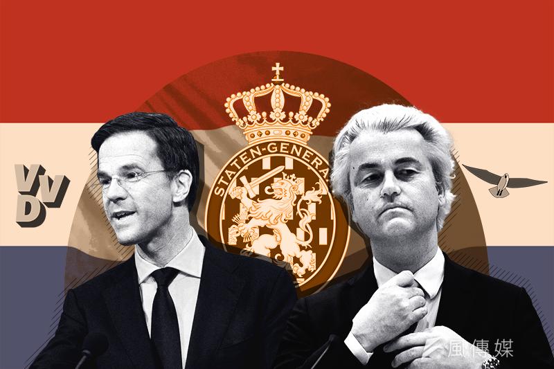 荷蘭國會大選:呂特與威爾德斯之爭(風傳媒製圖)