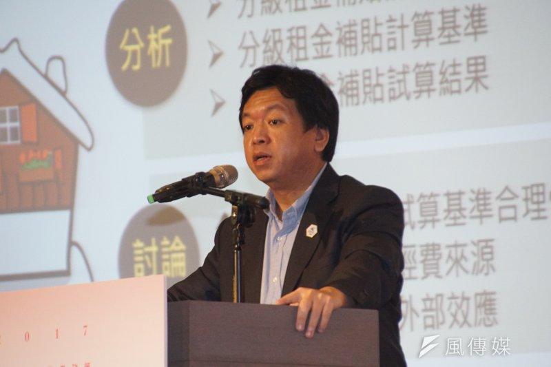 台北市政府居住正義論壇,社會局長許立民出席。(盧逸峰攝)