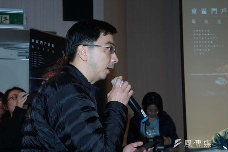 20170314-東區門戶計畫企業菁英座談,台灣微脂體公司葉志鴻總經理參與座談。(盧逸峰攝)