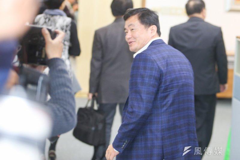 20170315民進黨祕書長洪耀福出席民進黨中常會.(陳明仁攝)