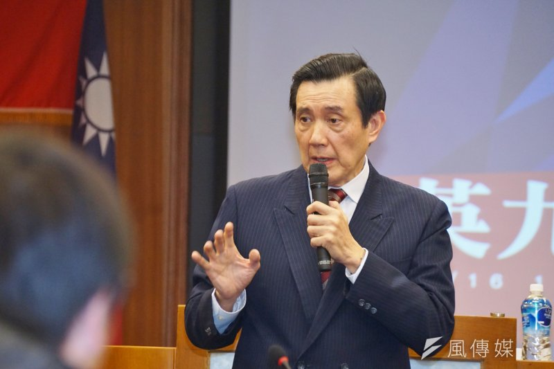 前總統馬英九至東吳大學上課。(資料照片,盧逸峰攝)