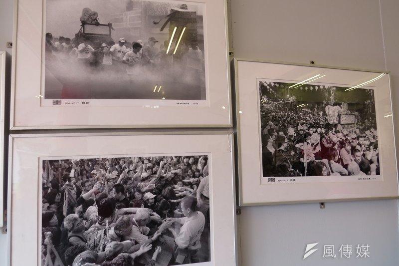 新港奉天宮舉辦大甲媽祖遶境進香30週年攝影展。(圖╱謝敏政攝)