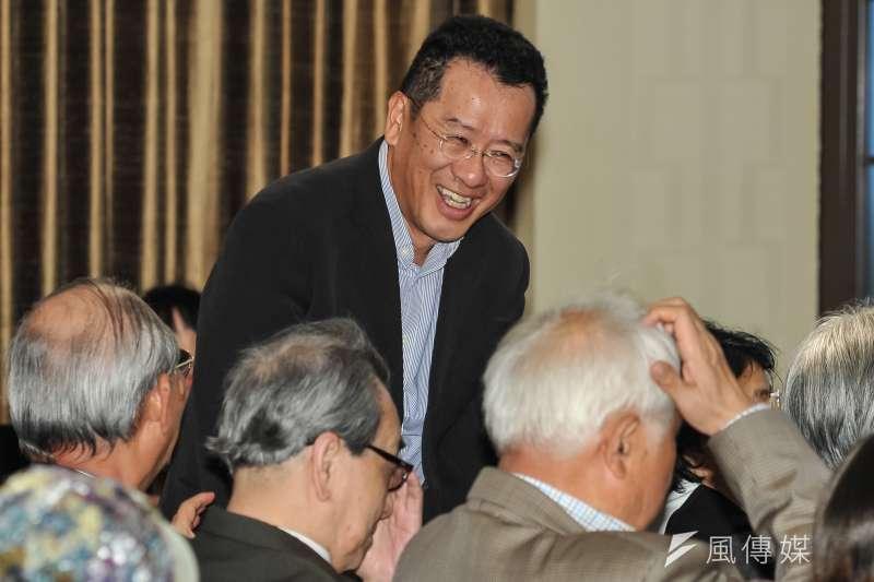 20170319-新台灣和平基金會「第二屆台灣歷史小說獎頒獎典禮」,黨產會主委顧立雄出席。(甘岱民攝)