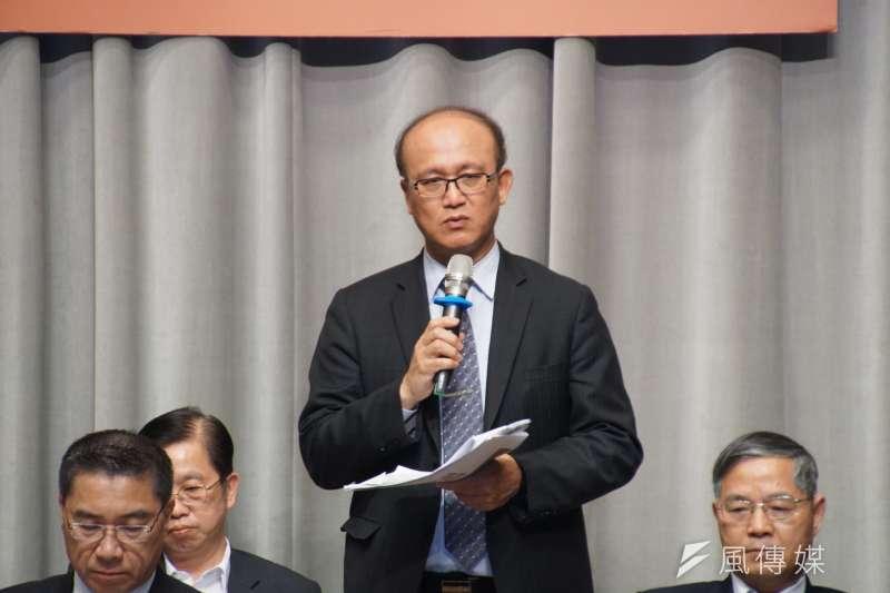 20170321-行政院記者會,教育部次長林騰蛟發言。(盧逸峰攝)