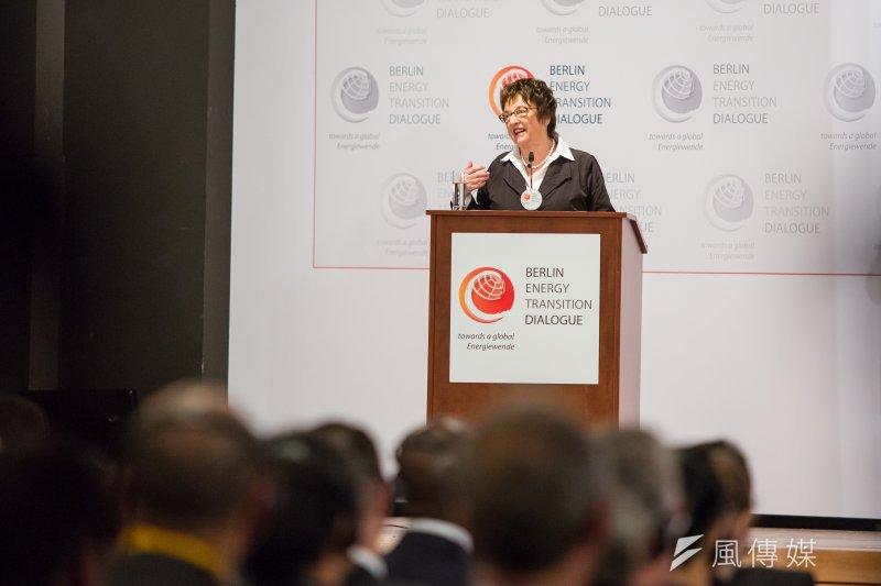 20170320-德國綠能專題,德國柏林,德國聯邦經濟能源部長布里姬‧居普里斯(Brigitte Zypries)20日出席柏林能源轉型論壇。(顏麟宇攝)