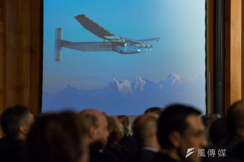20170320-德國綠能專題,德國柏林,駕駛太陽能飛機(Solar Impulse 2)的冒險家 Prof. Bertrand Piccard 20日出席柏林能源轉型論壇。(顏麟宇攝)