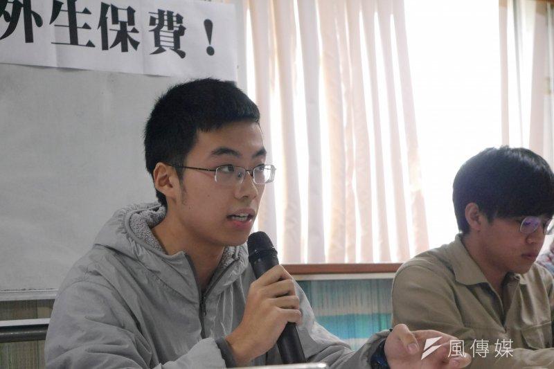 20170321-中國學生張郁。(洪與成攝)