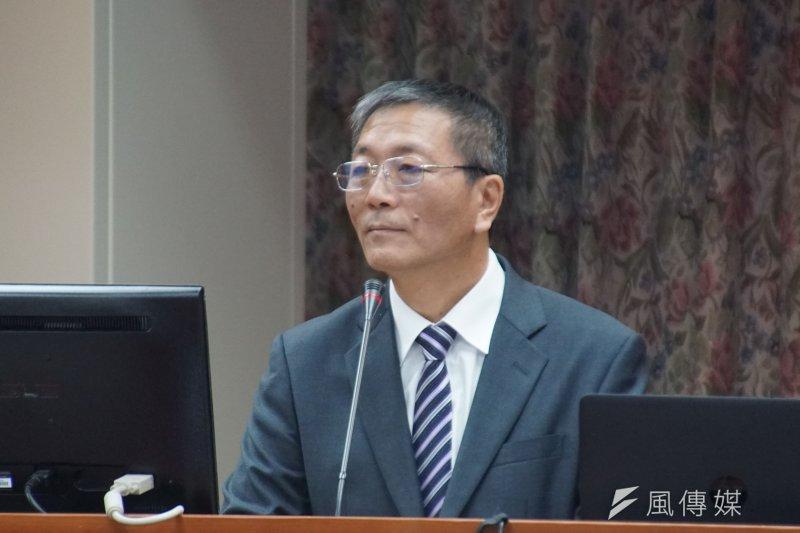 體育署長林德福23日立法院備詢。(盧逸峰攝)