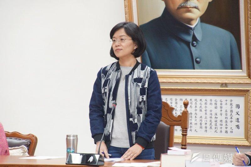 20170323-立委蘇巧慧出席教育文化委員會。(盧逸峰攝)