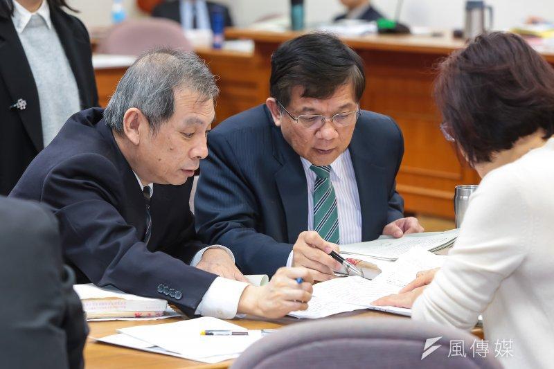 20170327-經濟部部長李世光、礦務局長朱明昭27日於經濟委員會備詢。(顏麟宇攝)