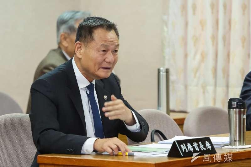 20170327-退輔會主委李翔宙27日出席立院委員會。(顏麟宇攝)