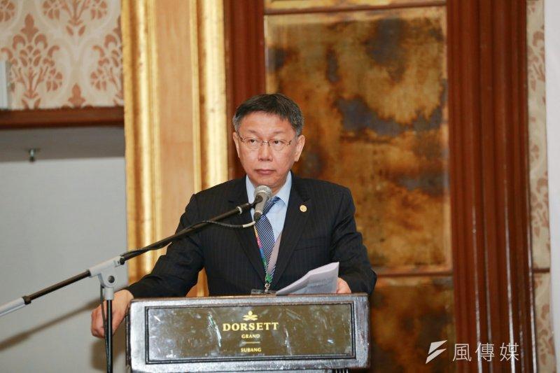 台北市長柯文哲出訪馬來西亞,對留學生演說時首度表態反去蔣化,並表示這樣不能解決問題。(取自台北市政府)
