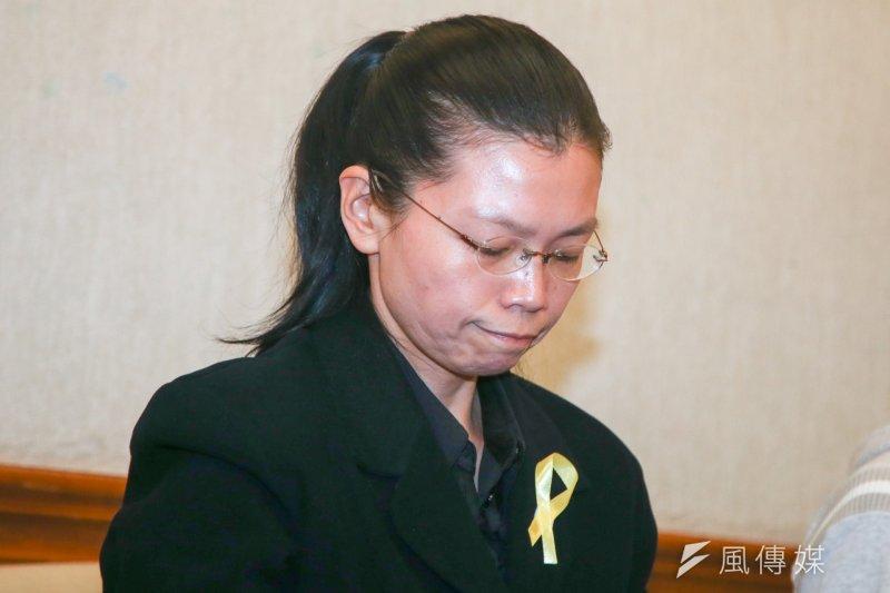 入境中國遭秘訊的李明哲妻子李凈瑜,拒絕透過中間人「私了」。(陳明仁  攝)