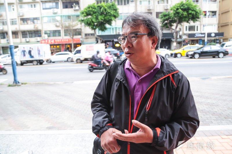 20170331-過勞勞工、家屬及勞團專訪,工作傷害受害人協會專員楊國楨。(顏麟宇攝)