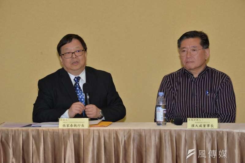 20170401-「促進民間投資政府公共服務之問題與對策」論壇,中華跨領域管理基金會執行長張家春。(甘岱民攝)