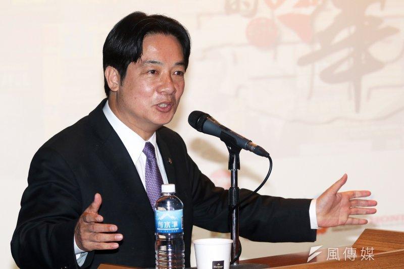 臺南市長下午賴清德出席《新新聞》30周年社慶系列「台灣的新十年」專題演講活動,分享個人執政經驗。(蘇仲泓攝)