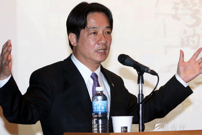 臺南市長賴清德自陳是「親中愛台」。(資料照/蘇仲泓攝)