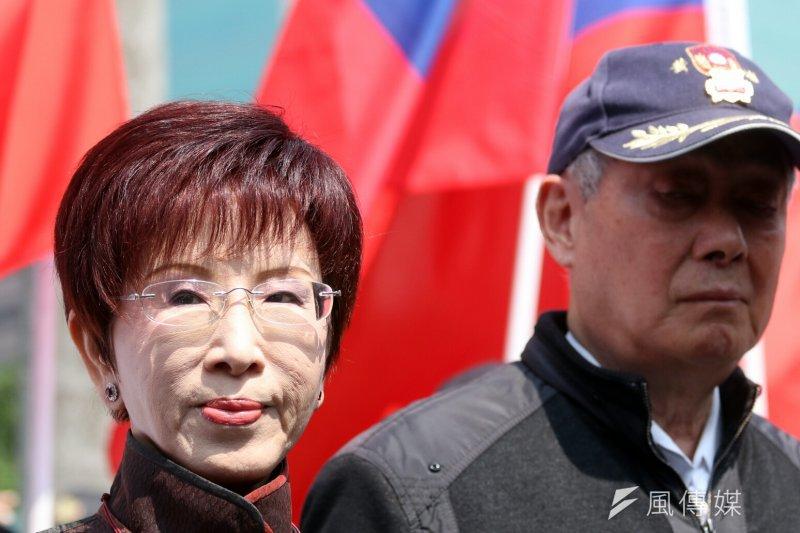國民黨主席洪秀柱,對於外界對挺洪派的質疑,她表示,「欲加之罪,何患無辭」(蘇仲泓攝)