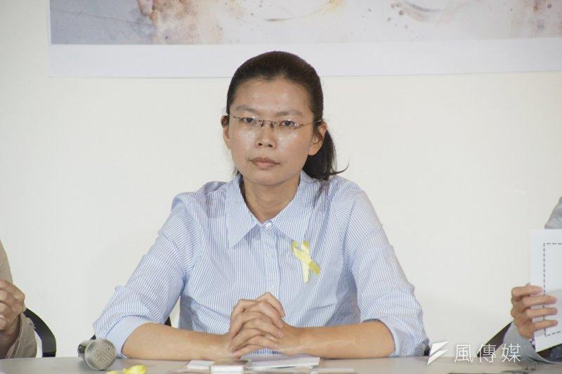 20170404-李明哲妻北京行前記者會。(盧逸峰攝)