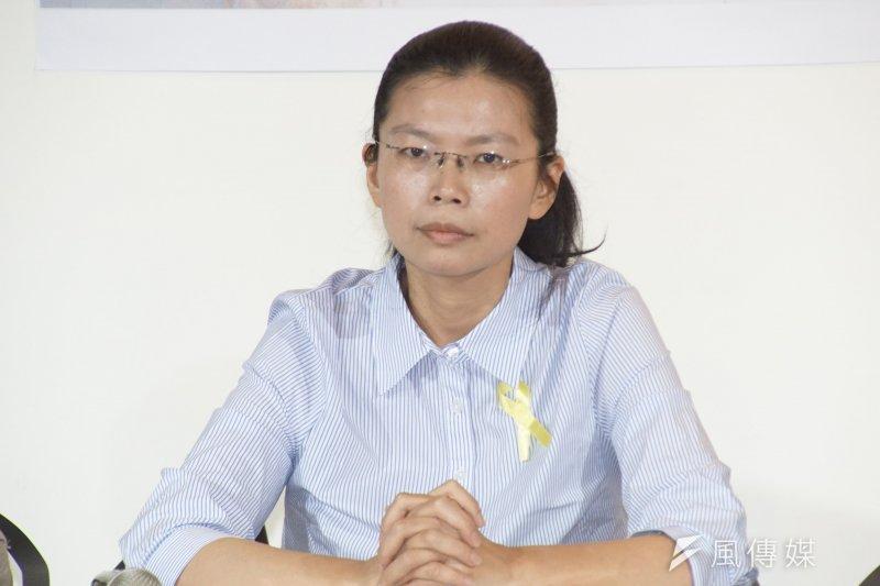 與李明哲的太太李凈瑜(見圖)一同參與會議的台灣關懷中國人權聯盟理事長楊憲宏28日指出,會中確認此案是人權工作被中國無理關押,台灣政府將以人道、人權理由,訴諸國際,協助救援。(資料照,盧逸峰攝)