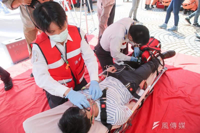 台北市消防局去年特別成立一所緊急救護學院,該訓練學院為全台消防單位首座高擬真訓練場所。(資料照,陳明仁攝)