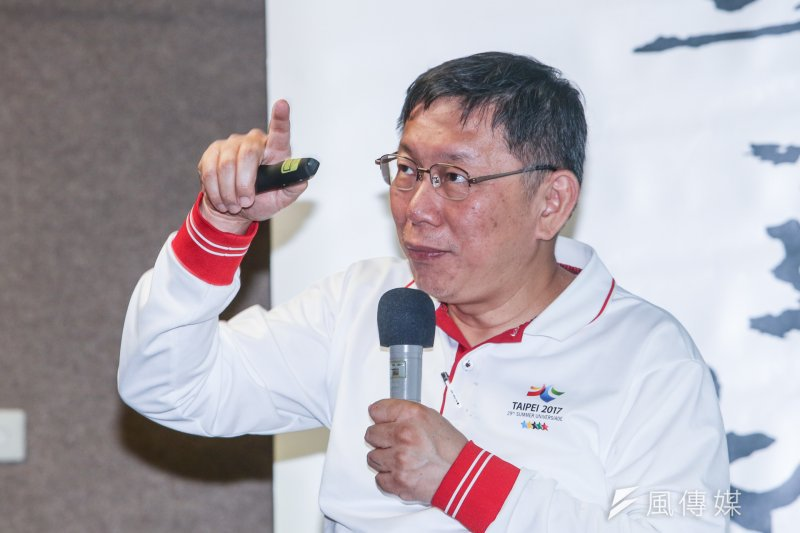 柯文哲說,有次他去史丹佛大學,1位教創投的教授說「在台灣搞創投不會成功沒有用」,因為台灣是在提高成功率。(陳明仁攝)