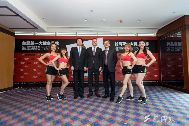 市長林右昌、臺航董事長劉文慶及柯約翰,為基隆創造三贏。(圖/張毅攝)
