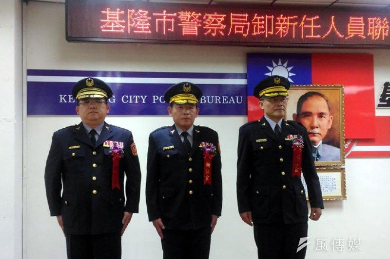 新上任的督察長(左一)及兩位分局長。(圖/張毅攝)
